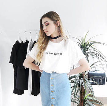 Hiçbir Sert Duygular T Shirt Tumblr Ilham Pastel Soluk Grunge