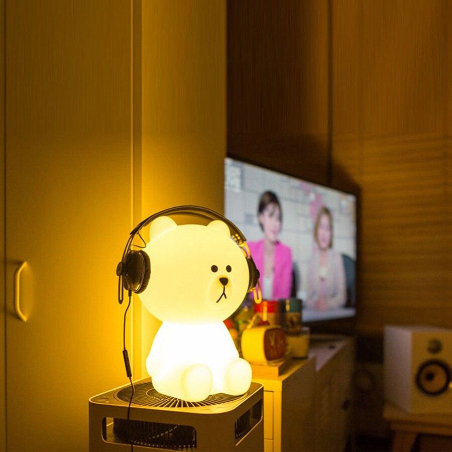 Doxa 50cm Brown Bear Led Night Light Rechargeable Children