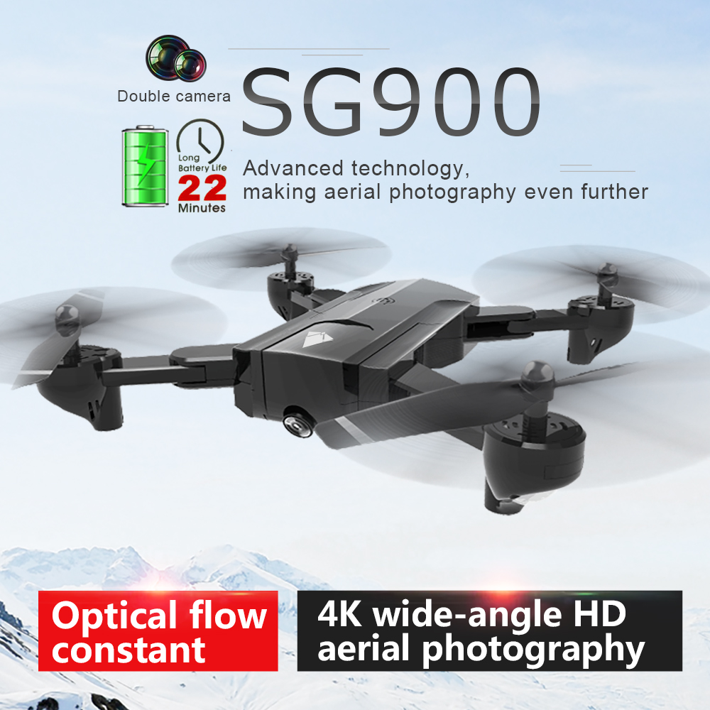 SG900 Wifi RC Drone with 720P 4K HD Dual Camera GPS Follow Me Quadrocopter FPV Professional Drone Long Battery Life Toy For Kids(China)