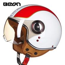 Новое поступление Веон мотоцикла половина шлем Мода Прохладный Мужчины Женщины Четыре sesaon мотоцикл заездов скутер открытым лицом helmethelmet