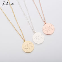 Jisensp Globe World Map Necklace Women Geometric Necklaces Earth Day Gift for Best Friends Circle Necklaces Pendants Jewelry(China)