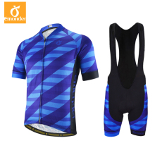 EMONDER Men Pro Team Cycling jersey set And Bib shorts Dry Mesh high quality Breathable 4D gel pad bib shorts summer bicycle kit