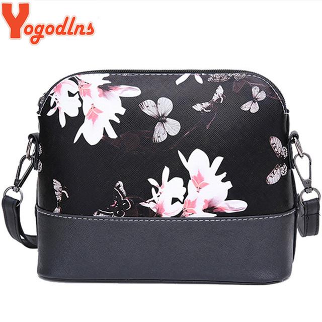 Yogodlns New 2017 women messenger bags famous brand shell package women shoulder bag leather handbag Women pouch