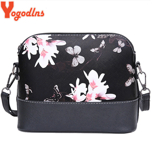 Yogodlns New 2019 women messenger bags famous brand shell package women shoulder bag leather handbag Women pouch