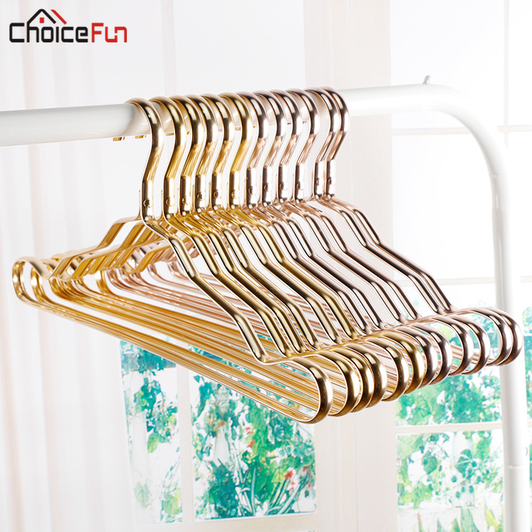 5PCS Rose Gold Metal Closet Adult Skirt Dress Coat Clothing Cloth Hanger Space Saving Kids Baby Clothes Hangers For Clothes