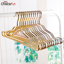 5PCS Rose Gold Metal Closet Adult Skirt Dress Coat Clothing Cloth Hanger Space Saving Kids Baby Clothes Hangers For clothes(China)