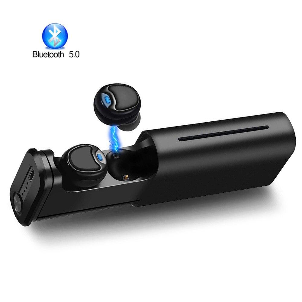 Bluetooth V5.0 Earbuds Sport In Ear Headsets Wireless Mini Earphones Deep Bass Earpieces Binaural Calls For iPhone Samsung Sony