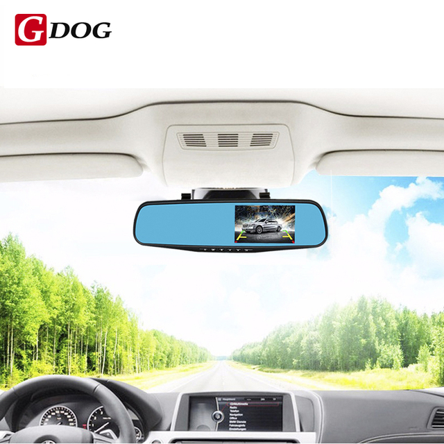 Full HD 1080P 4.3″ HD LED Screen Car DVR Camera Mirror Dual Lens Camera Mirror With Rearview Camera Parking Monitor free ship