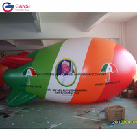 0.18mm PVC helium advertising blimp flying inflatable airplane shape balloons inflatable airship with customized logo