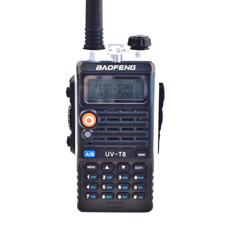 Baofeng Walkie Talkie UV T8 Dual Band 3800mah 8W 174MHz UHF 400 520MHz Two Way Radio
