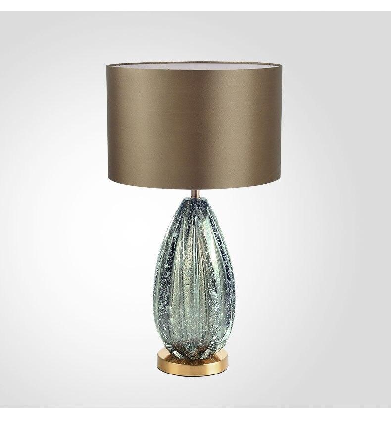 vase art decotable lamps for living room New modern American style simple grey green glazed villa style creative desk lamp in Desk Lamps from Lights Lighting