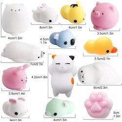 Мягкие игрушки канцелярия милые животные сквиши антистресс игрушка мяч Squeeze Моти рост игрушки расслабляет мягкий, липкий болотистый стресс...