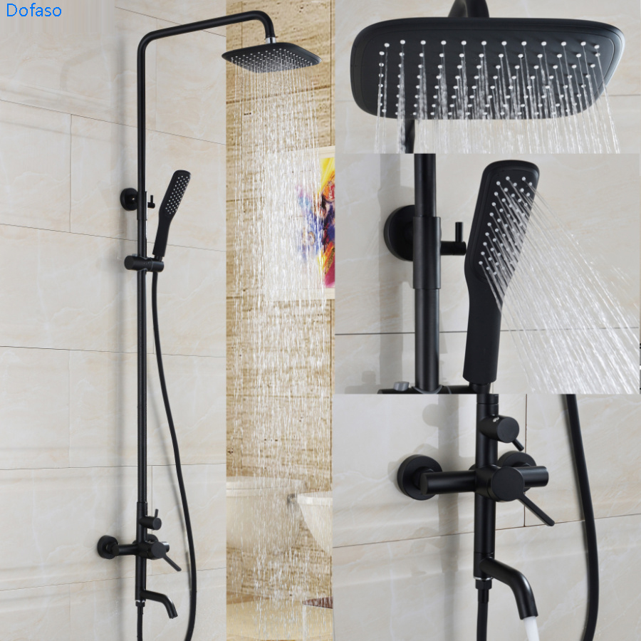 home handle bathtub bronze faucet shower faucets dual set item black in oil mount brass soild wall height from dofaso rubbed