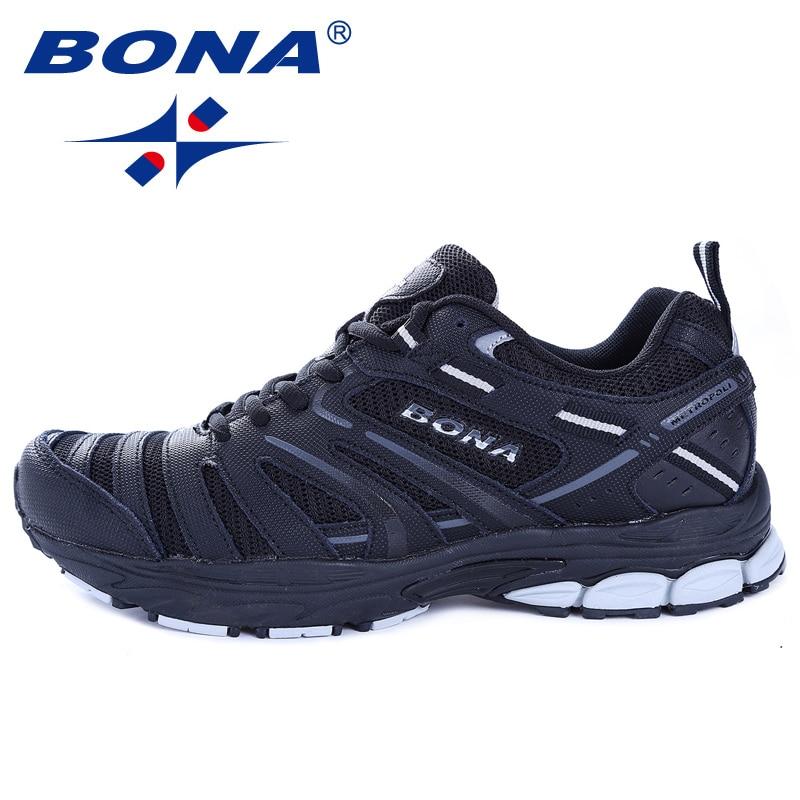 BONA nouveauté Hot Style hommes chaussures de course en plein air marche Trekking chaussures de sport confortables léger livraison gratuite