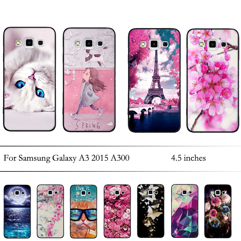 Case for Samsung Galaxy A3 2015 A300 Case Soft TPU Silicone Luxury Back Cover for Samsung A3 2015 A300 Cover Fundas Bags Bumper image
