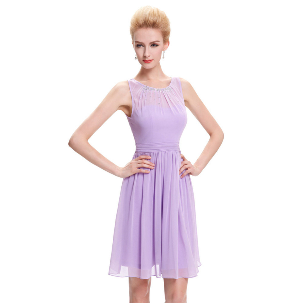 Online get cheap bridesmaid purple dress aliexpress alibaba cheap short bridesmaid dresses under 50 knee length chiffon formal dress wedding purple lilac bridesmaid dresses ombrellifo Choice Image