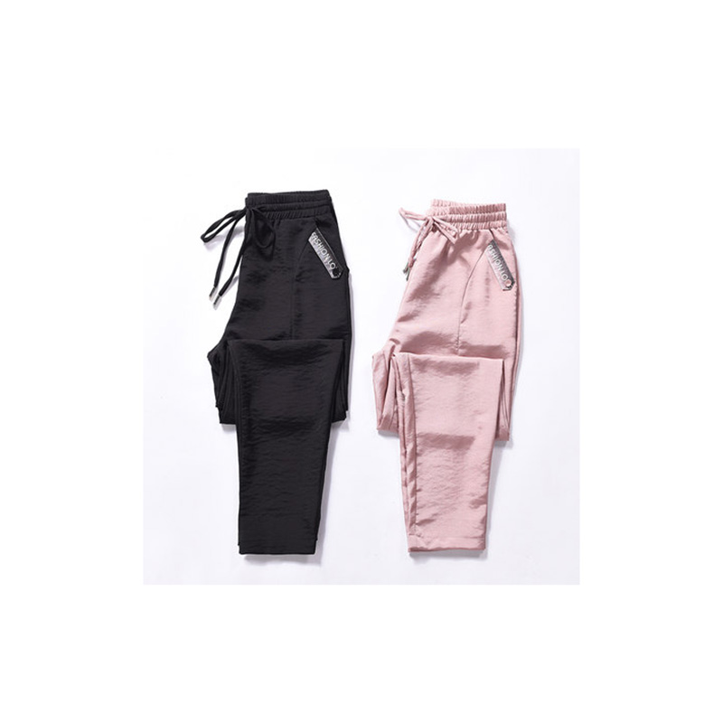 Women's pants 2019 spring summer new thin section ice silk casual sweatpants loose wild harem pants tide high waist pants B33
