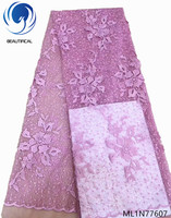 BEAUTIFICAL embroidery french lace fabrics 8 colors african dress fabrics lace for party 2019 latest african lace ML1N776