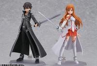 15cm High Quality Sword Art Online Model Kirigaya Kazuto and Yuki Asuna Action Figure SAO Kirito Asuna Long Hair Kirito Figure