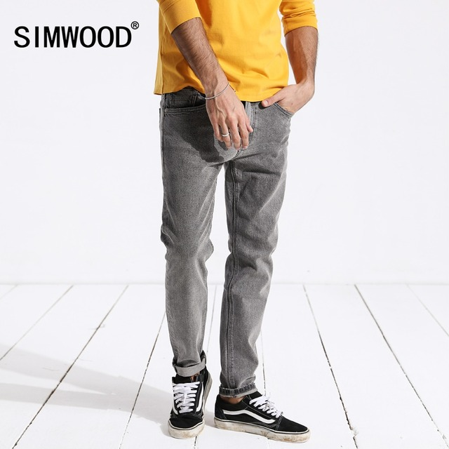 SIMWOOD New Arrive 2018 Vintage Jeans Men Casual Hot Sale Slim Denim Long Pants For Man Trousers Plus Size Free Shipping 180316
