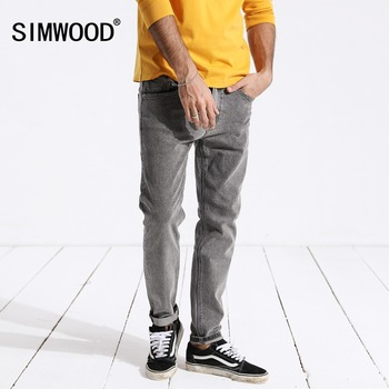 SIMWOOD New Arrive 2019 Vintage Jeans Men Casual Hot Sale Slim Denim Long Pants For Man Trousers Plus Size Free Shipping 180316