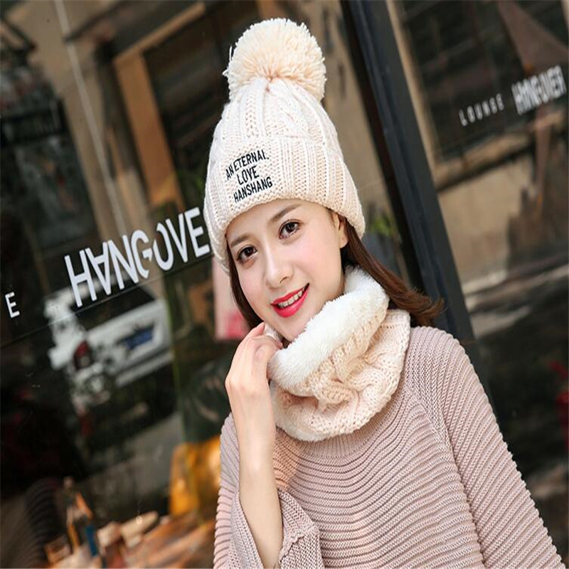 цены на 2017 new knitting winter hat scarf lady balaclava Men women's winter hats bean bag daily skin care warm Skullies beanie в интернет-магазинах