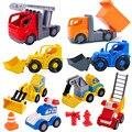 Экскаватор лестница пожарная машина аксессуары строительные блоки Обучающие игрушки для детей совместимы с брендовыми блоками игрушка по...