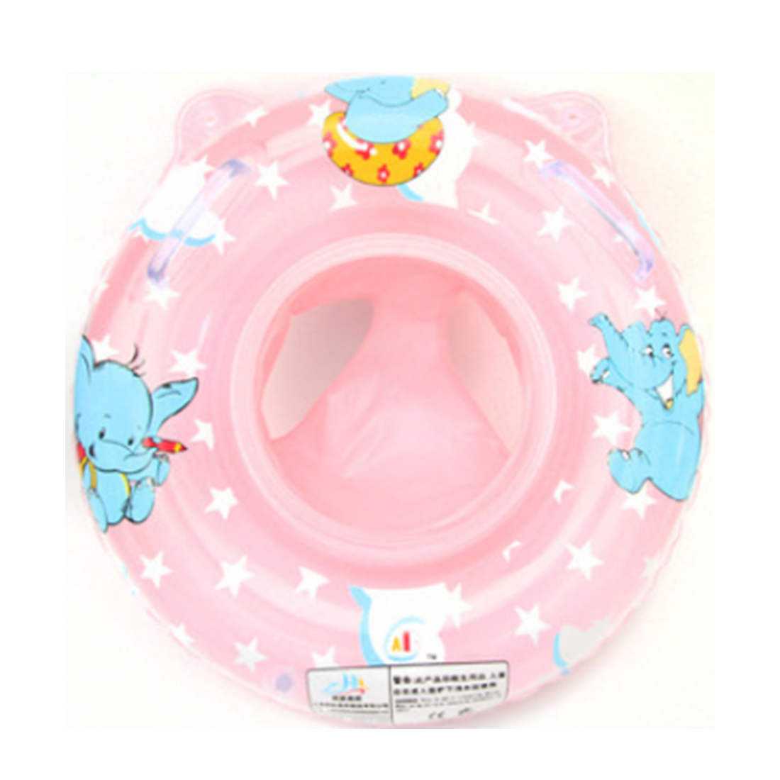 Inflatable Baby Pool Swimming Ring Thickening Armpits Ring Child Boat with Two Gripp Handle