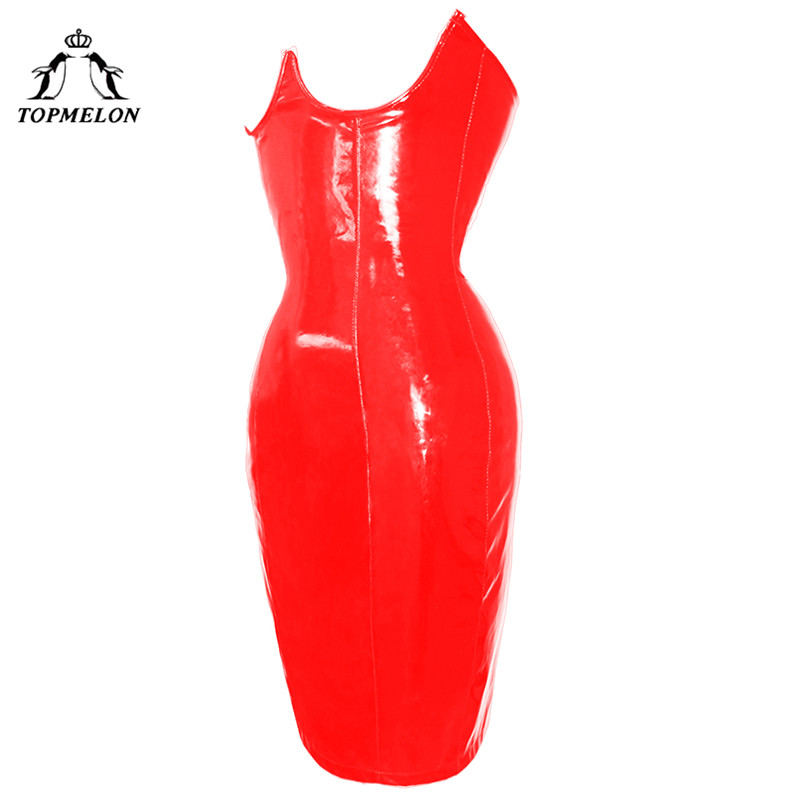 TOPMELON Steampunk Corset Dress Bustier Gothic Corselet Corset Women Sexy Leather Lace Up Slimming Club Party Corset Dress 6XL