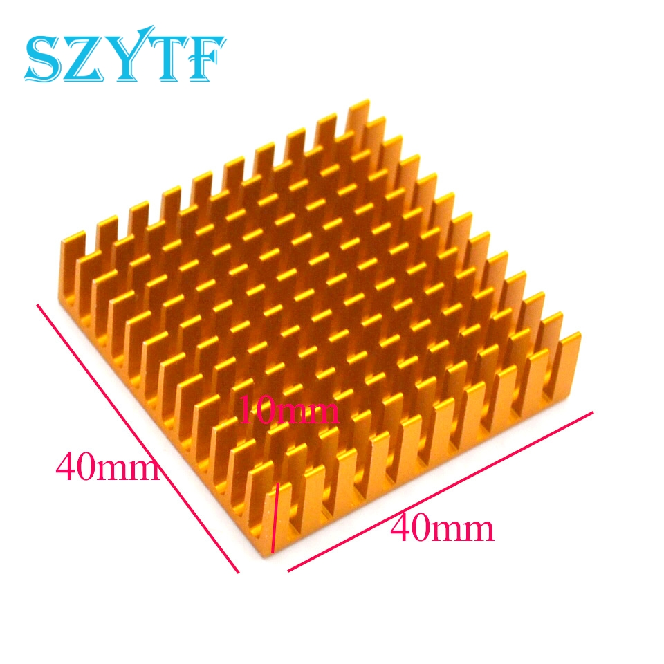 5pcs Heat sink 40*40*11MM (gold slot) high-performance radiator synthetic graphite cooling film paste 300mm 300mm 0 025mm high thermal conductivity heat sink flat cpu phone led memory router