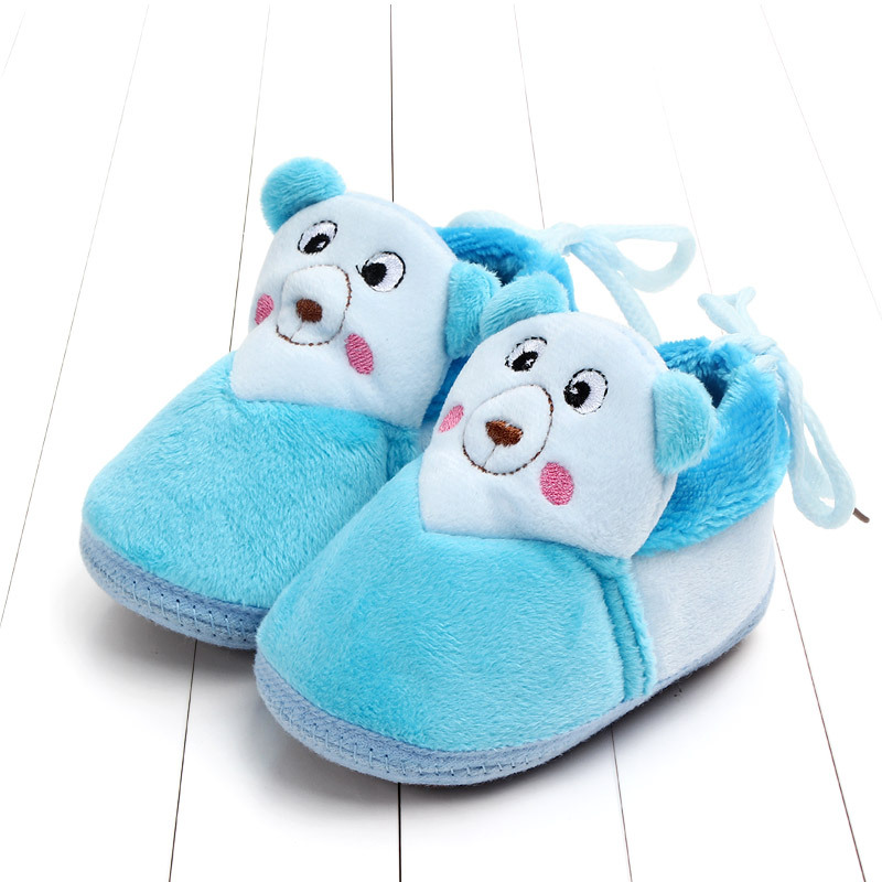 Indoor First Walkers Baby Shoes Cotton Anti-slip Booties Winter Wammer Baby Girl Boy Shoes Newborn Slippers Footwear Booties (5)