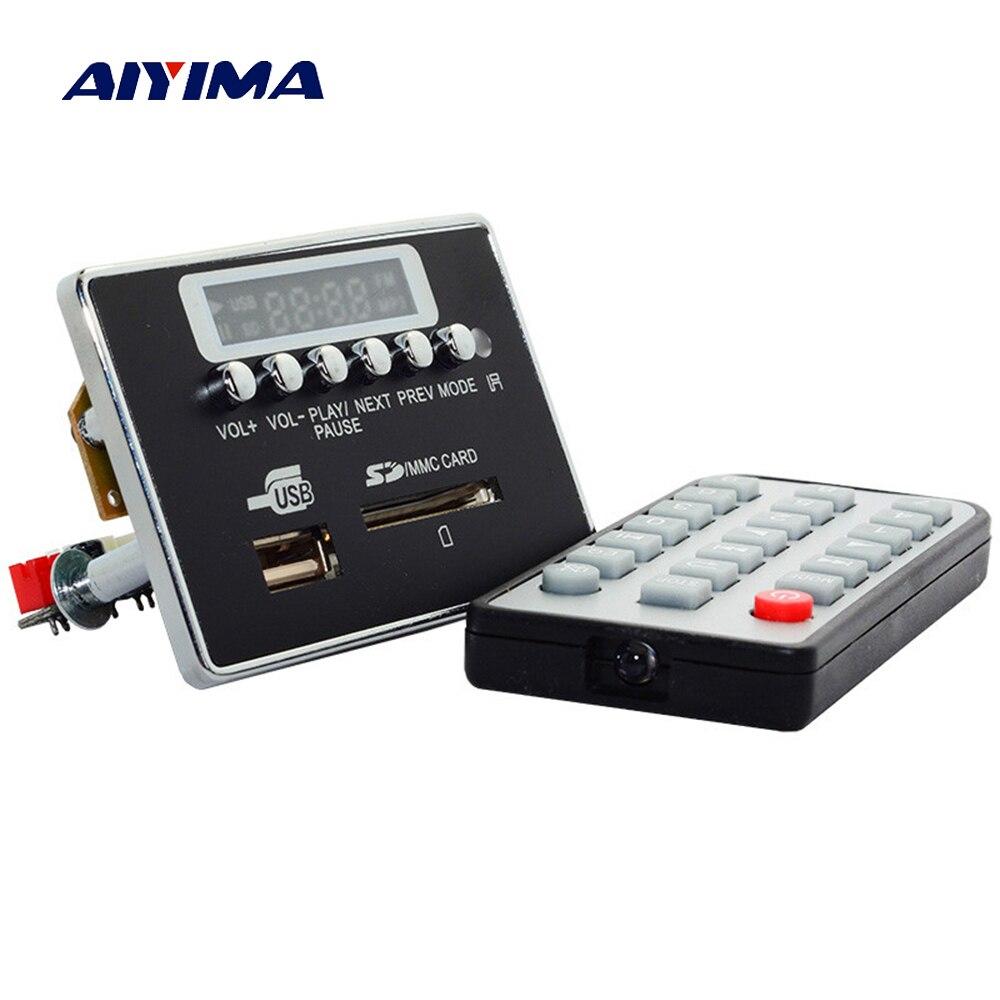 Aiyima 9-12 V LED Bluetooth MP3 Décodeur Conseil WAV WMA FLAC décodage Lecteur Audio Module de Soutien FM Radio USB Avec Télécommande contrôle
