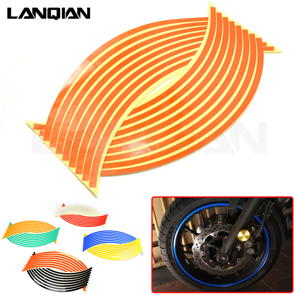 Hot Motorcycle Wheel Sticker Reflective Decals Rim Tape Car/bicycle For KTM DUKE 125 200 390 690 990 1190 1290 SMR/SMT/SMC RC8 R