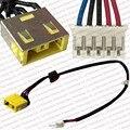 Original new laptop dc power jack porto interface de conector com cabo para lenovo g500 g505 g400 g490 series