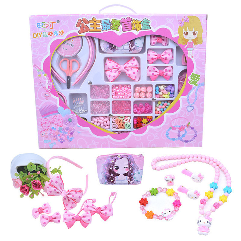 accessory:  Children creative DIY beads toy with whole accessory set/ Kids girls handmade art craft educational toys best gifts for Princess - Martin's & Co