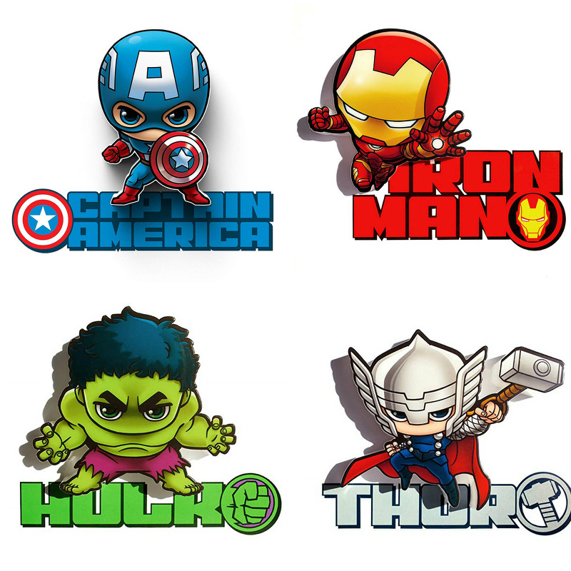 The Avengers Marvel Wall Lights Battery Operation Iron Man Hulk Captain America Bedroom Bedside Decorative Wall Night Lights