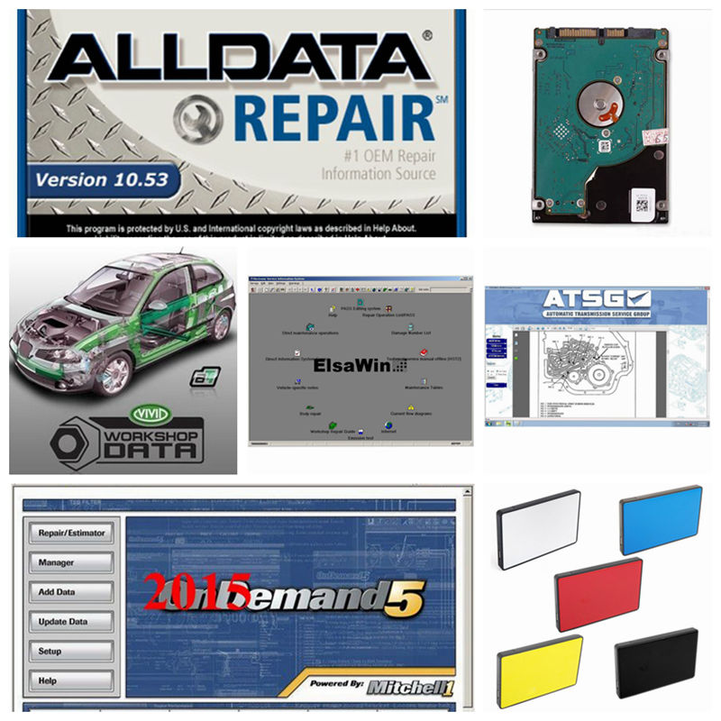 2018 Alldata 10.53 All data Mitchell ondemand 2015 Auto Repair Software 21in1 1tb hdd harddisk usb3.0 Vivid Workshop ElsaWin alldata and mitchell software alldata auto repair software mitchell ondemand 2015 vivid workshop data atsg elsawin 49in 1tb hdd