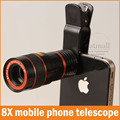New Universal 8X Camera Zoom Mobile Phone Telescope Lens for iphone Samsung shutterbug necessary Clip Fixed Eightfold Magnifier