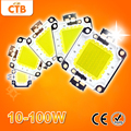 High Power Integrated 10W 20W 30W 50W 70W 100W DC 10V-32V LED Lamps Chip For Floodlight Spotlight Warm / Cold White