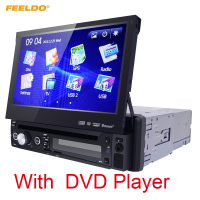FEELDO 7 inch 1DIN In-dash Manumotive Ultra Slim WinCE Xe GPS Bluetooth Navi Đài Phát Thanh USB MP5 Với DVD Player # FD-3934