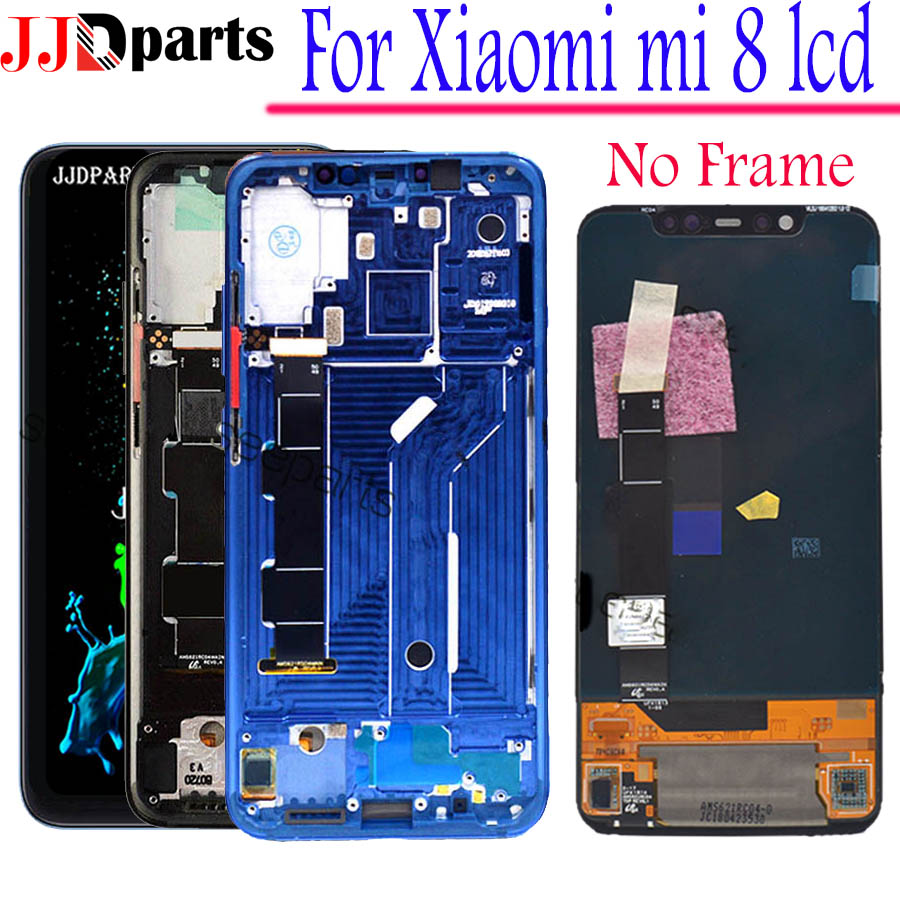 Amoled Display Xiaomi Mi 8 LCD Touch Screen Digitizer Assembly Xiaomi Mi 8 display With Frame