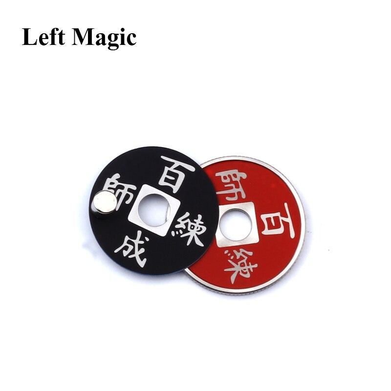 Left Magic- 1 juego Chinese Coin Color Change Trucos de magia mental - Juguetes clásicos - foto 5