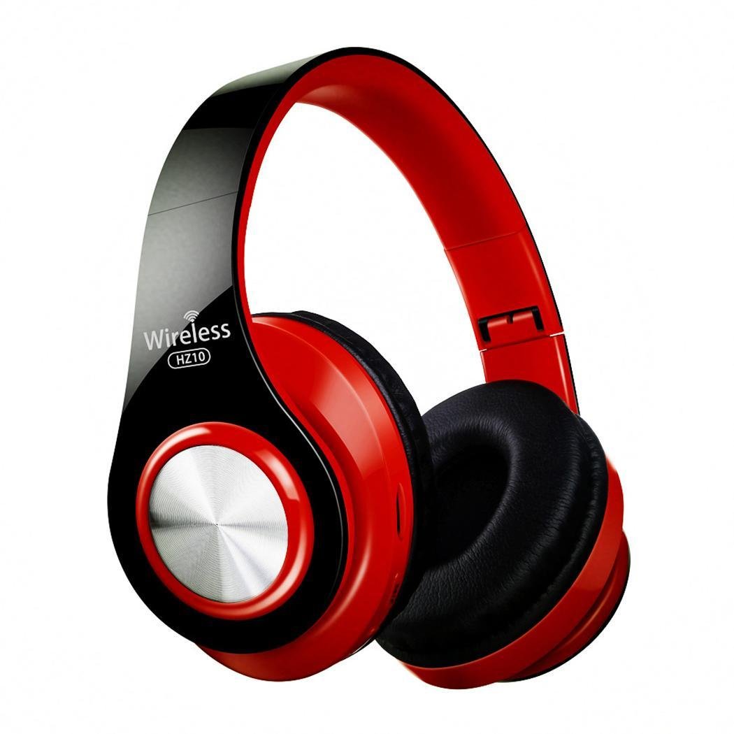 Bluetooth Headphone Over-Ear Wired Wireless Headphones Bluetooth 4.2 Stereo Headset with Mic Answer Call Funtion Plastic Black