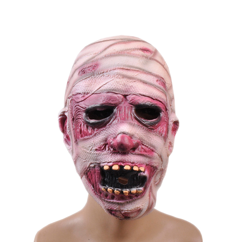 horror bandaged man latex mask terror male head rubber masks halloween carnival masquerade zombie cosply party