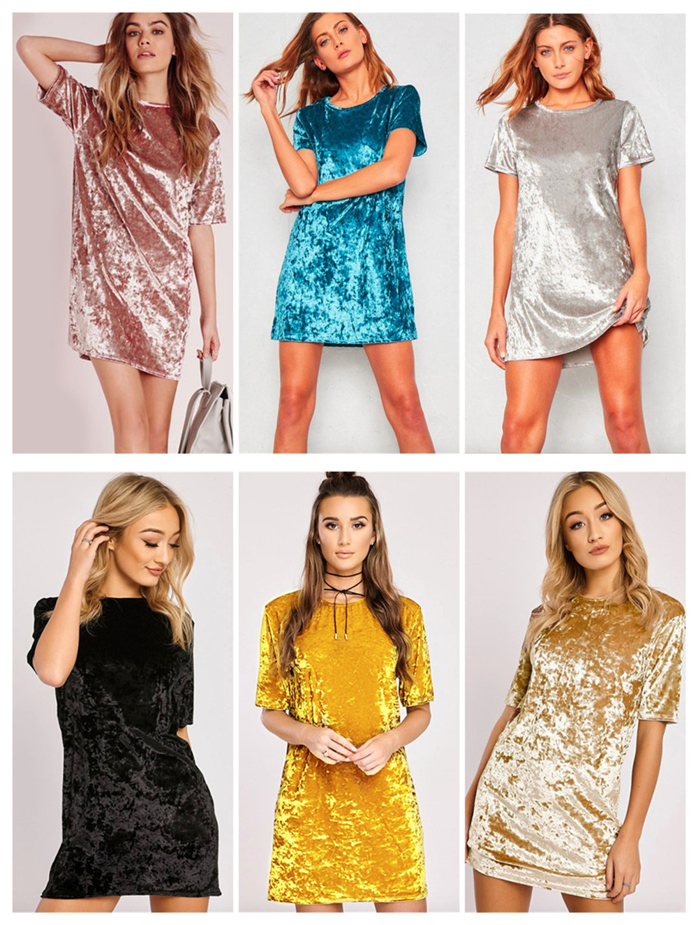 Swaggy HTB1HhfslgfH8KJjy1zcq6ATzpXaR Einfarbiges Mini Sommerkleid in vielen Farben