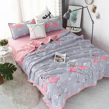Gentleman bird Printing Cotton Summer Air Conditioner Cool Thin Quilt Washed Comfortable Home Textile Bedding Comforters Duvets(China)