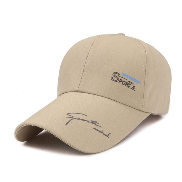 2017 algodão fino padrão carta boné de beisebol homens e mulheres de lazer chapéu de sol borda longa sombra primavera tampas