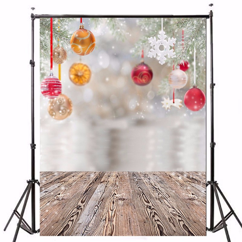 5x7ft Vinyl Background Photography Christmas Gifts Tree Decoration photographic Backdrop for Studio Photo Prop 2.1m x 1.5m