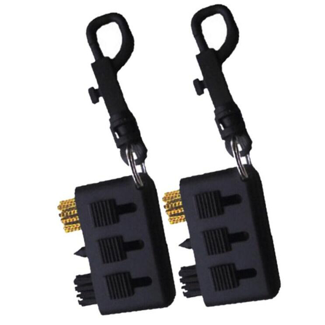 CRESTGOLF 2pcs/Pack Club Brush Golf Plastic Cleaning Tool Brush Accessories Black