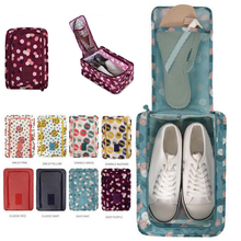Printed Waterproof Holiday Travel Shoes Organizador Box Storage Bag Packing Organizers Drawer Closet Dividers Container